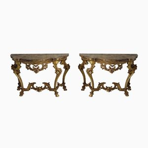 19th Century Italian Console Tables, Set of 2