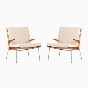 Boomerang Lounge Armlehnstühle von Peter Hvidt und Orla Møllgaard für France & Søn, 1960er, 2er Set