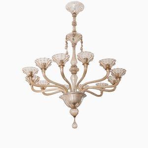Großer Vintage Murano Glas Kronleuchter von Ercole Barovier für Vetreria Barovier