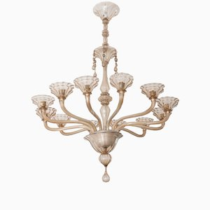 Vintage Large Murano Glass Chandelier by Ercole Barovier for Vetreria Barovier