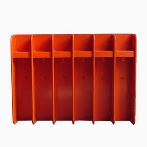 Orangefarbene Vintage Metall Garderobe