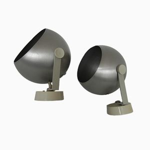 Wall Lamps with Aluminum Shades from Rotaflex, 1970s, Set of 2
