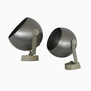 Wandlampen mit Aluminium Schirmen von Rotaflex, 1970er, 2er Set