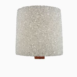 Wall Lamp with Textured Plastic Shade, 1960s