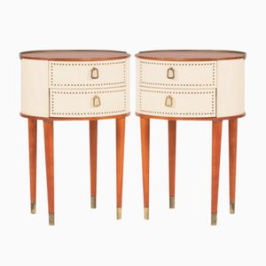 Bedside Tables from Halvdan Pettersson, 1960s, Set of 2