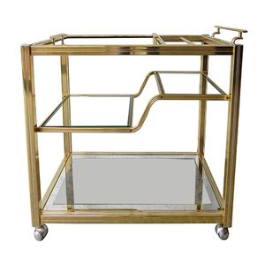 Vintage Brass and Chrome Trolley by Pierre Vandel
