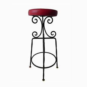 Black and Red Belgian Bar Stool