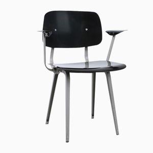 Vintage Revolt Stuhl mit Schwarz-Grauen Armlehnen von Friso Kramer für Ahrend Cirkel