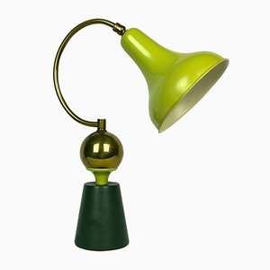 French Apple Green Table Lamp, 1950s