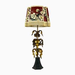 Italienische Vergoldete Vintage Hollywood Regency Tischlampe