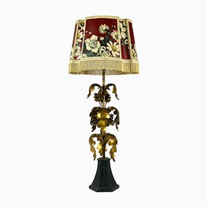 Vintage Italian Gilt Hollywood Regency Table Lamp