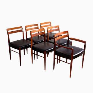 Esszimmerstühle von H W Klein für Bramin, 1960er, 6er Set
