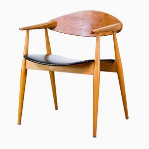 Skandinavischer Stuhl aus Teak Schichtholz, 1970er