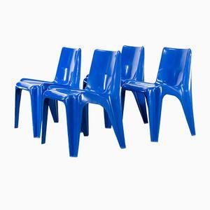 Vintage Model BA1171 Polyester Chairs by Helmut Bätzner for Bofinger Furniture, Set of 4