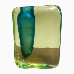 Italienisches Glasgefäß von Antonio da Ros für Vetrerie Cenedese