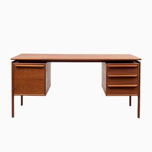 Teak Desk by G.V. Gasvig for G.V. Møbler, 1960s