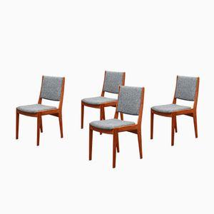 Vintage Stühle aus Teak mit Neuer Polsterung, 4er Set
