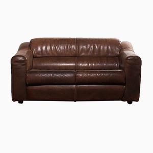 Zwei-Sitzer Sofa aus Büffelleder, 1970er
