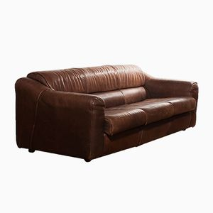 Drei-Sitzer Sofa aus Büfelleder, 1970er