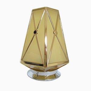 Art Deco Ceiling Lamp with Hexagonal Sphere