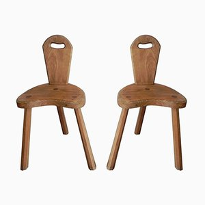 French Oak Side Chairs, Set of 2