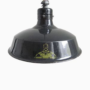 Industrial Lamp with Enamelled Steel Cap from Reluma