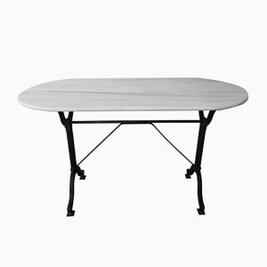 Bistro Table with Cast Iron Base and Marble Top from Serex
