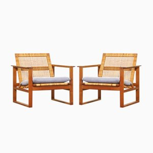 Vintage Lounge Chairs by Børge Mogensen for Fredericia, Set of 2