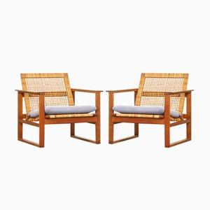 Vintage Sessel von Børge Mogensen für Fredericia, 2er Set