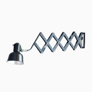 Schwarze Vintage Scheren Lamp von SiS