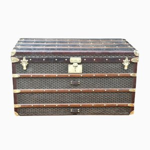 Large Leather Steamer Trunk from Goyard, 1930s