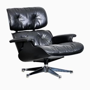 Black Lounge Chair by Charles & Ray Eames for Vitra