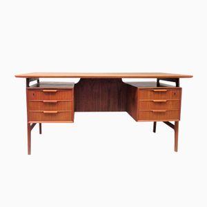 Vintage Model 75 Teak Desk by Gunni Omann