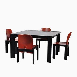 Tavolo modello 778 e quattro sedie modello 121 vintage di Tobia Scarpa per Cassina