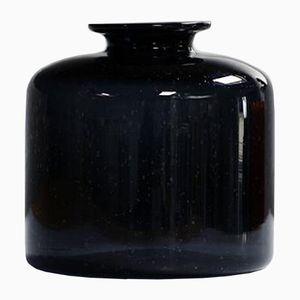 Vase Bleu Foncé & Noir d'Erik Hoglund, 1960s