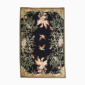 Englischer Handgeknüpfter Vintage Needlepoint Teppich, 1970er