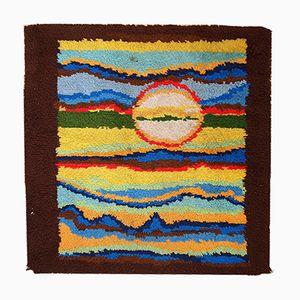Amerikanischer Abstrakter Handgeknüpfter Vintage Teppich, 1980er