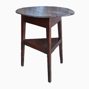 Antique Oak Cricket Side Table
