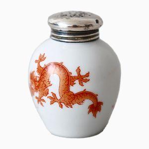 Salière en Porcelaine avec Décor Dragon de Thomas, 1950s