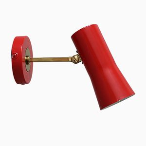 Rote Wandlampe, 1950er