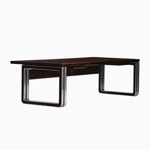Vintage Wengeholz Schreibtisch von Osvaldo Borsani für Tecno