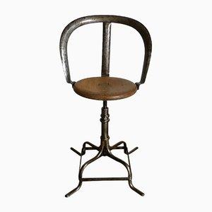 Chaise d'Atelier Antique Industrielle