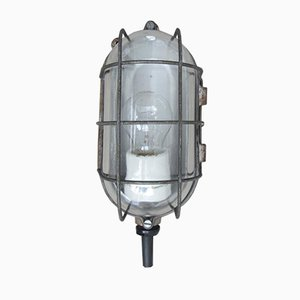 Mid-Century Grey Industrial Ceiling or Wall Lamp