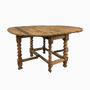 Swedish Oval Pine Gateleg Table, 18th Century