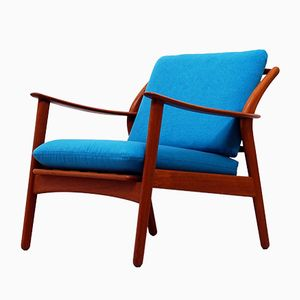 Vintage Danish Hans Teak Lounge Chair by Niels Koefoed for Hornslet Møbelfabrik