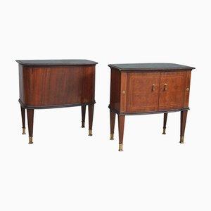 Italian Bedside Tables, 1950s, Set of 2