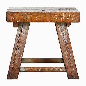 Tavolo in legno massiccio, anni '40