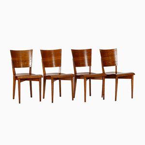 Model H-59 Dining Chairs by Jindrich Halabala for Spojene UP Zavody, 1930s, Set of 4