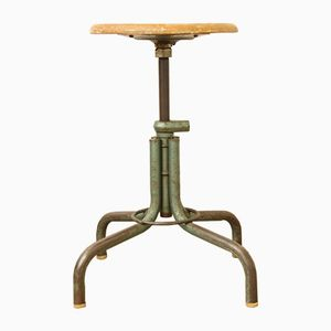 Vintage Industrial French Stool