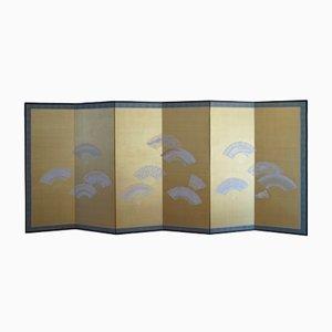 Divisorio pieghevole Meiji Showa con sei pannelli, Giappone
